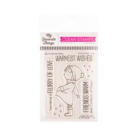 "BB114 My Favorite Things Vault Birdie Brown Stamps  Warmest Wishes 3""X4"""