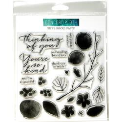 """315035 Concord & 9th Clear Stamps Beautiful Branches 6""""X6"""""""
