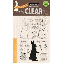 "HA-CM227 Hero Arts Clear Stamps Color Layering Rabbit 4""X6"""