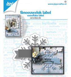 6002/1532 Stans-embos debosmal Sneeuwvlok label
