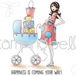 "419410 Stamping Bella Cling Stamp Baby Carriage Bella 6.5""X4.5"""