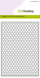 115633/0603 CraftEmotions Die - Cutting Grid - dots rond Card 10,5x14,8cm