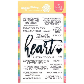 """647564 Waffle Flower Crafts Clear Stamps Oversized Heart 4""""X6"""""""