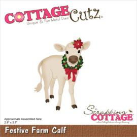 """CC917 CottageCutz Dies Festive Farm Calf 2.9""""X3.8"""""""