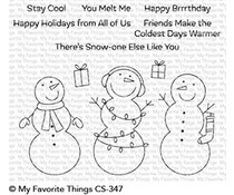 CS-347 My Favorite Things Frosty Friends Clear Stamps