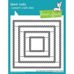 LF1384 Lawn Cuts Custom Craft Die Zig Zag Square Stackables