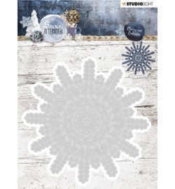 STENCILSA216 - Cutting and Embossing Die Cut, Snowy Afternoon nr.216