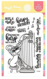 """617202 Waffle Flower Crafts Clear Stamps Harpy Birthday 4""""X6"""""""