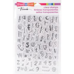 307684 Stampendous Perfectly Clear Stamps Funky Alphabet