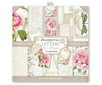 SBBL22 Stamperia Letters & Flowers 12x12 Inch Paper Pack