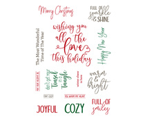 LDRS3257 LDRS Creative Elegant Holiday Wishes Clear Sentiment Stamps