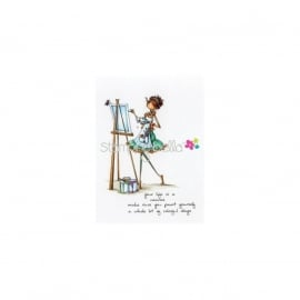 411730 Stamping Bella Cling Rubber Stamp Uptown Girl Abigail The Artist