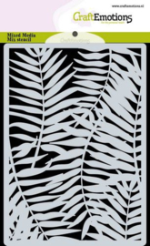 185070/0308 CraftEmotions Mask stencil achtergrond Palmbladeren A6