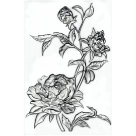 665632 Sizzix 3D Texture Fades Embossing Folder Mini Roses By Tim Holtz