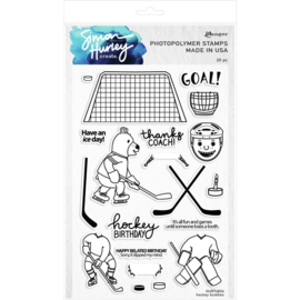 "HUR76834 Simon Hurley create. Cling Stamps Hockey Buddies 6""X9"""
