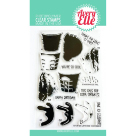 """656905 Avery Elle Clear Stamp Set Layered Ice Cream 4""""X6"""""""