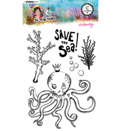 ABM-SFT-STAMP08 StudioLight ABM Clear Stamp Octopussy So-Fish-Ticated nr.9