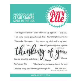 "559113 Avery Elle Clear Stamp Set You've Got This  4""X3"""