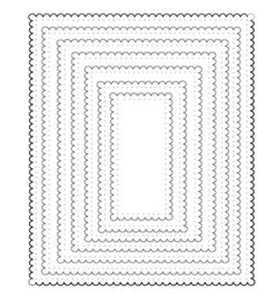 CCC98 C.C.Designs Scalloped Rectangle
