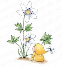 EB913 Stamping Bella Cling Stamps Bundle Girl With A Wood Anemone