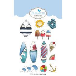 CS041 Elizabeth Crafts Clear Stamps Sun & Surf