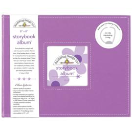 "095194 Doodlebug Storybook Album Lilac 8""X8"""