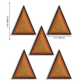 664748 Sizzix Thinlits Die Set - Stacked Tiles Triangles 25PK Tim Holtz