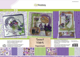 118040/0207 CraftEmotions Paper stack Sweet Violets 11 vel A4