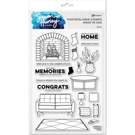 """HUR78166 Simon Hurley create. Cling Stamps Welcome Home 6""""X9"""""""