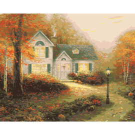 "558018 Thomas Kinkade Paint By Number Kits The Blessings Of Autumn 16""X20"""