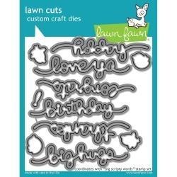 LF1172 Lawn Cuts Custom Craft Die Big Scripty Words