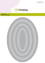 115633/0904 CraftEmotions Big Nesting Die ovalen Card