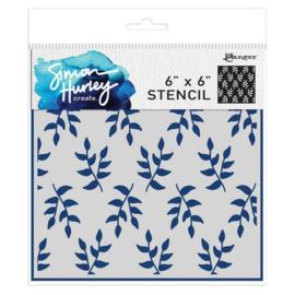 HUS71556 Simon Hurley Stencils Leafy Greens