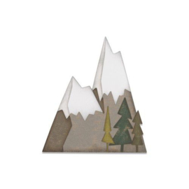 664225 Sizzix Thinlits Die set Alpine by Tim Holtz 7PK
