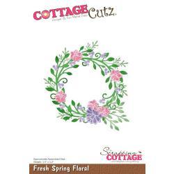 """CC413 CottageCutz Die Fresh Spring Floral Wreath 3.5""""X3.2"""""""