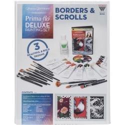 422158 Donna Dewberry Deluxe Paint Set Borders & Scrolls In Prima Flow