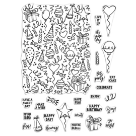 "620579 Hero Arts Clear Stamps 4""X6"" Wish Big Peek-A-Boo Parts"