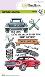 130501/1512 CraftEmotions clearstamps A6 Cars Carla Creaties