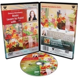 132752 Donna Dewberry DVD Basic Learn To Paint With Oils