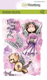 130501/1644 CraftEmotions clearstamps A6 - Angel & Bear 1 Carla Creaties