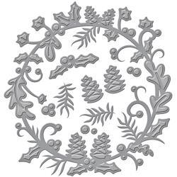 S4632 Spellbinders Shapeabilities Dies Holly Berry Wreath