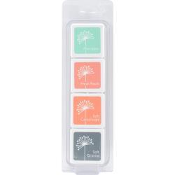 079226  Hero Arts Dye Ink Cubes 4 Colors Garden