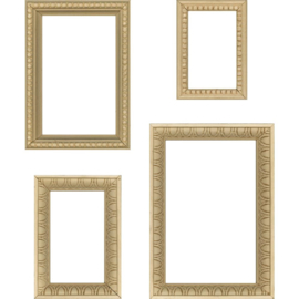 TH93694 Idea-Ology Wooden Vignette Frames 4/Pkg
