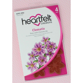 HCPC3954 Heartfelt Creations Cling Rubber Stamp Set Clematis
