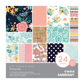 PP1066 Kaisercraft paper pad 16,5x16,5cm Paisley days