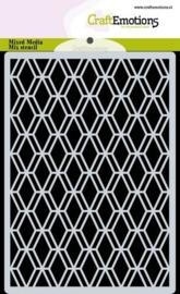 185070/0304 CraftEmotions Mask stencil achtergrond Ruit Facet Art Deco A6