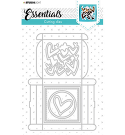 STENCILSL394 StudioLight SL Cutting Die Giftbox Multi Merci Essentials nr.394