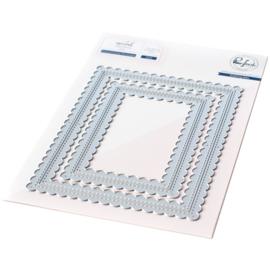 645989 PF046ES Pinkfresh Studio Essentials Die Set Stitched Scallop Rectangles