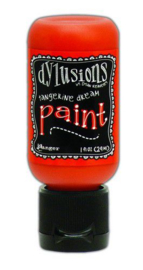 306610/0672 Ranger Dylusions Paint Flip Cap Bottle Tangerine Dream 29ml