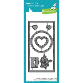 LF2433 Lawn Cuts Custom Craft Die Shutter Card Add-On